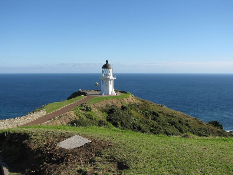 phare en haut de falaise Nouvelle Zélande